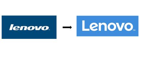 Změna loga společnosti Lenovo