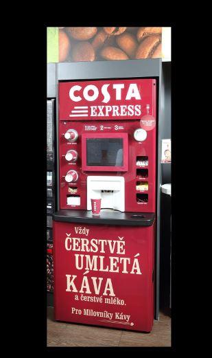 Kávovar Costa Express na čerpacích stanicích Shell