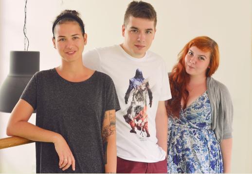 Veronika Augustová, Jan Studnička a Eva Došková (zleva), foto: Triad Advertising