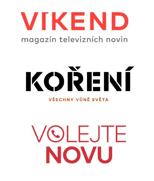 Nová loga pořadů, zdroj: TV Nova