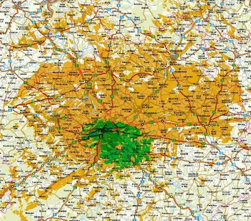 Pokrytí DAB Praha
