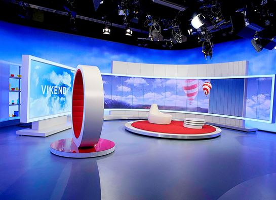 Studio pořadu Víkend, foto: TV Nova