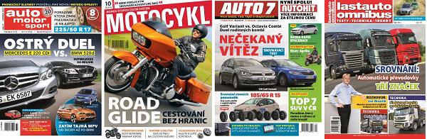 Některé tituly vydavatelství Motor-Presse Bohemia.