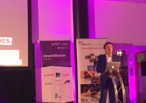 Matthias Kindler na konferenci #eventforum.