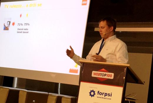 Jan Jirsa na konferenci WebTop100.