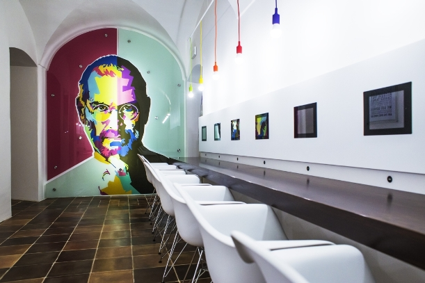 Apple museum kavárna nahled