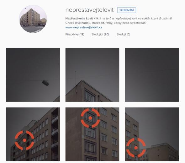 Instagramový profil Nepřestávejte lovit