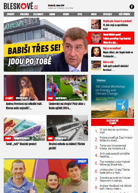 Nová podoba serveru Bleskově.cz.