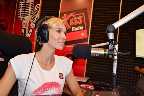 Hana Mašlíková v Rádiu Kiss. Zdroj: Kiss 98fm