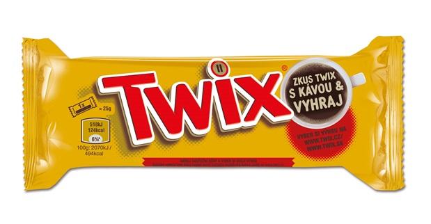 Soutěžní obal tyčinek Twix