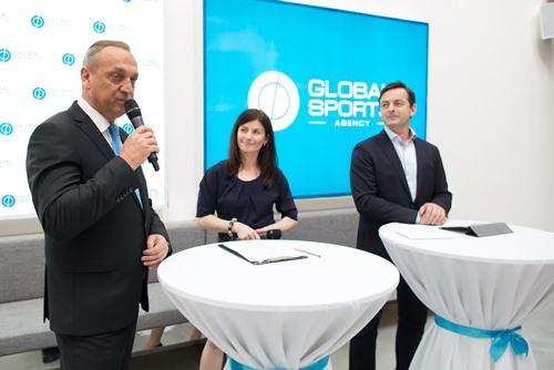 Pavel Zíka a Jakub Dlouhý na zahájení agentury Global Sports, foto: Global Sports
