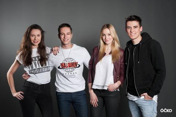 Zleva: Fancy, Jakub Kotek, Anna Kadeřávková a Milan Peroutka.