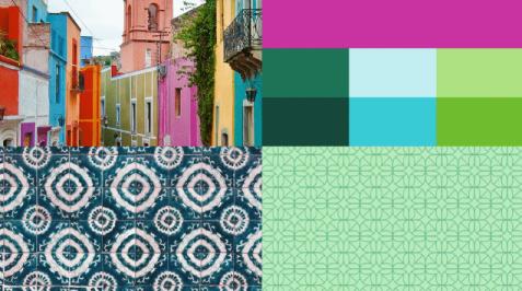 Inspirace, barvy a vzor pro Mexiko