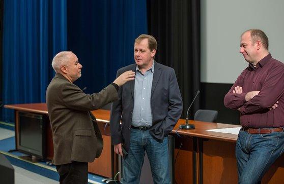 Harold Apter, Petr Dvořák a Jan Maxa, foto: Česká televize
