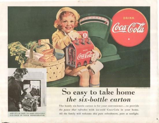 Dobová reklama ze 30. let 20. století s motivem červeného kruhu