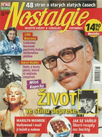 Titulní stránka časopisu Nostalgie.