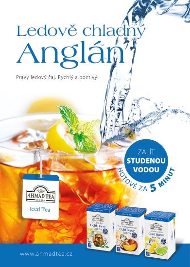 Klíčový vizuál k launchovací kampani Ahmad Tea Cold Brew