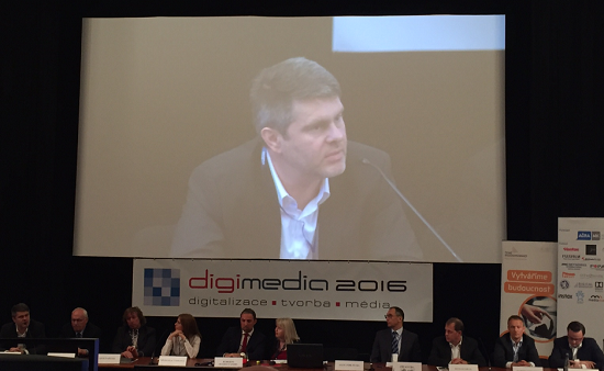 Marek Singer na konferenci Digimedia 2016.