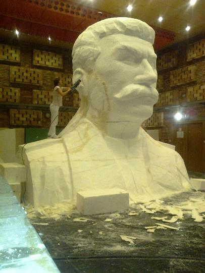 Stavba Stalinova pomniku