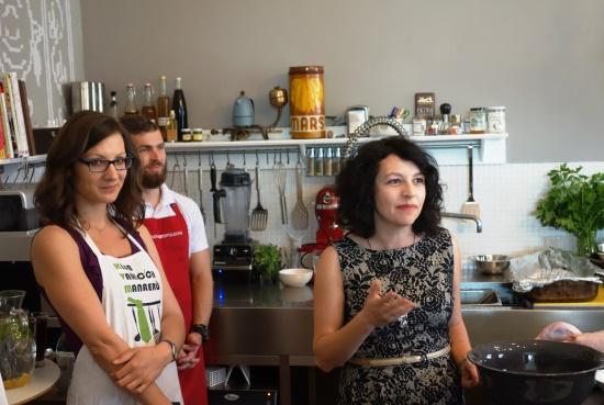 Součástí workshopu byla i neformální část - míchání speciálních druhů margarit s televizní kuchařkou Karolínou Kamberskou.