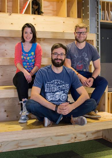 Nový kreativní tým agentury Fragile media (zleva): Klára Stehlíková, Trnka a Seman
