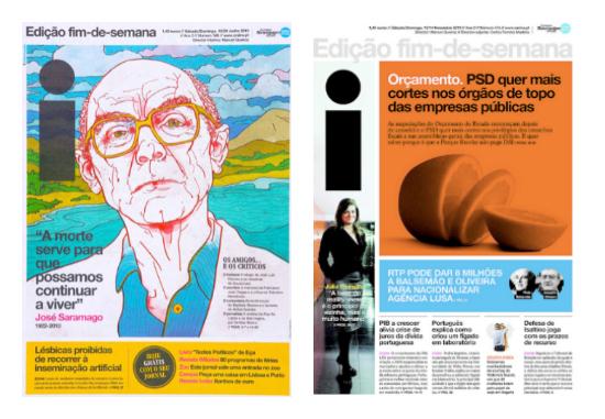 Inspirací pro nový design časopisu Euro byl portugalský deník i.