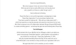 Vítězná printová reklama McWhopper Burger King (kliknutím zvětšíte)