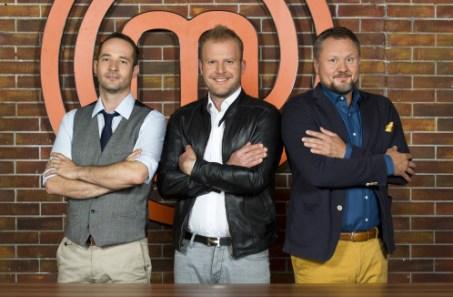 Marek Fichtner, Marek Raditsch, Miroslav Kalina v pořadu MasterChef, foto: TV Nova