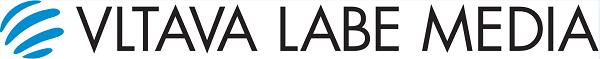 Logo Vltava Labe Media ve variantě na jeden řádek.