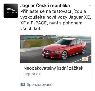 Reklamní tweet společnosti Jaguar.