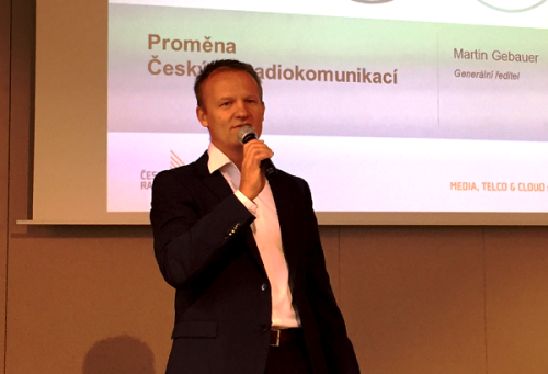 Martin Gebauer na tiskové konferenci.