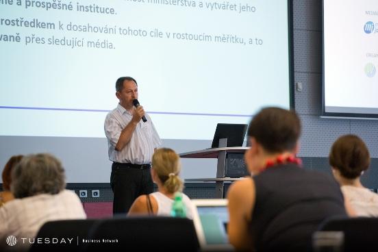 Petr Kukal na konferenci PR v digitální éře, foto: Internet Info