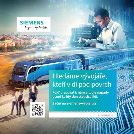 Klíčový vizuál k náborové kampani Siemensu