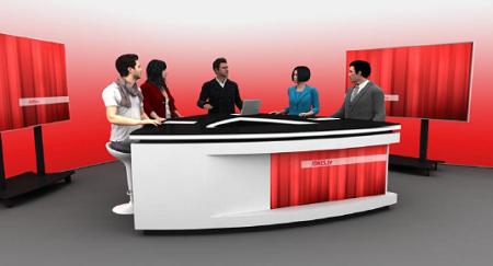 Vizualizace nového studia iDnes.TV