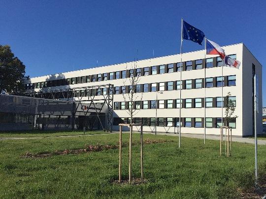 Nová budova České televize v Brně.