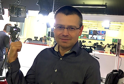 Jakub Unger před studiem v redakci Seznam.cz.