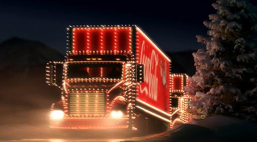 Vánoční kamion Coca-Cola.
