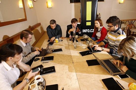 Michal Půr v rozhovoru s novináři, foto: Czech News Center