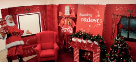 Santův pokojíček pro Coca-Colu od Sprint Trading