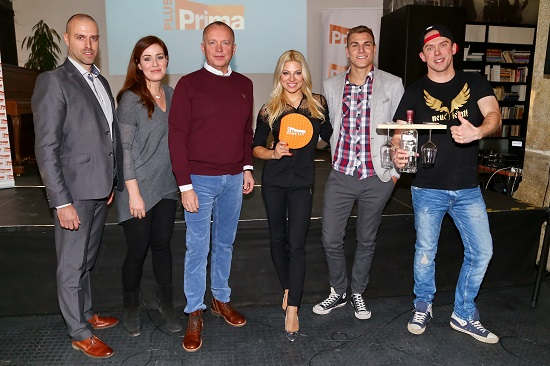 Skupina FTV Prima 12. ledna představila v Bratislavě v Cafe Berlinka kanál Prima PLUS, což je tematický program s licencí udělenou RRTV k provozování televizního vysílání šířeného prostřednictvím družice na území Slovenska. Nový kanál, který poběží od 23. ledna) představil Martin Cepek, Business Development Director, tiskovou konferenci moderoval Karel Voříšek a dostavili se i další tváře Primy, které slovenští diváci uvidí. (zleva Soňa Norisová, Eva Perkausová, David Gránský a Láďa Hruška).