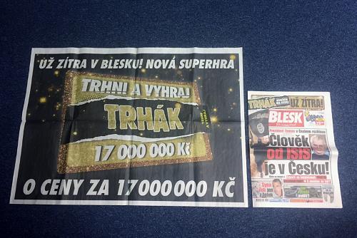 Superpanorama ve čtvrtečním vydání Blesku, 12.1. 2017.