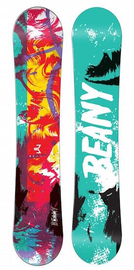 Ukázka snowboardů Beany