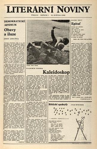 Vydání Literárních novin z roku 1990