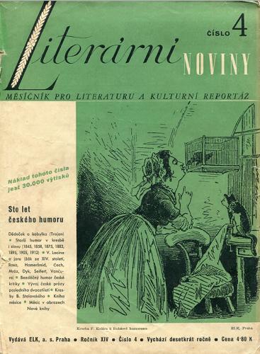 Čtvrtý ročník existence Literárních novin