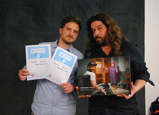 1. místo – Roman Biath (Zaraguza) a Pavel Hejný (Creative Embassy)