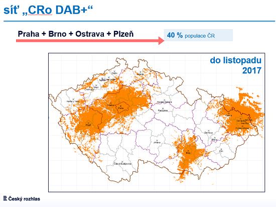 Plán rozšíření vysílání ČRo DAB+