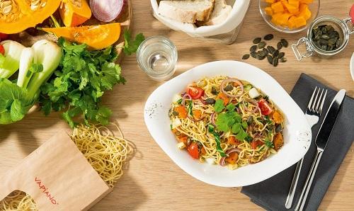 Nabídka jídel v restauraci Vapiano
