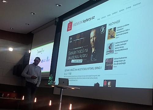 Filip Černý na konferenci Content First