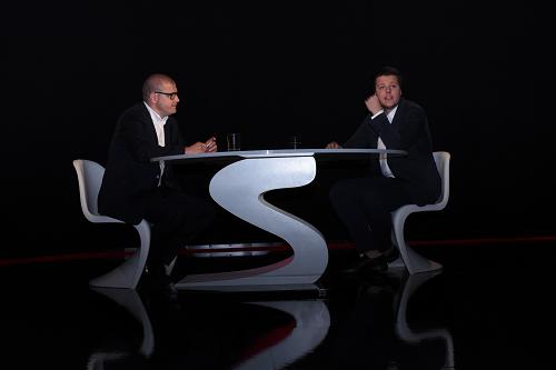 Jindřich Šídlo v nvém černém studiu, foto: Seznam.cz
