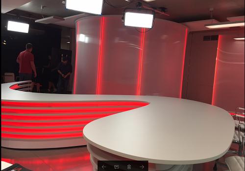 Bílé studio Seznam Zprávy, foto: MediaGuru.cz